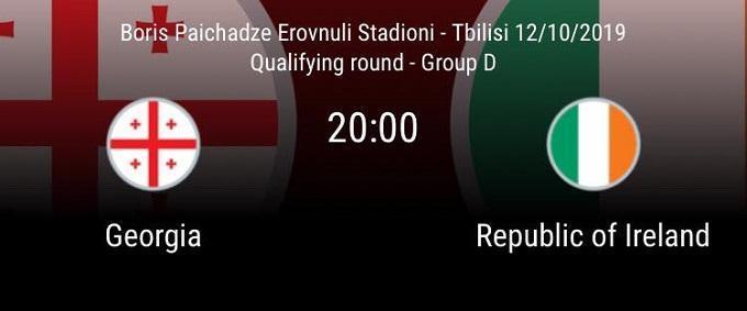 Soi keo nha cai Georgia vs CH Ailen 12 10 2019 vong loai EURO 2020
