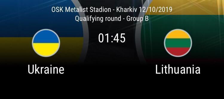 Soi keo nha cai Ukraine vs Lithuania 12 10 2019 Vong loai Euro