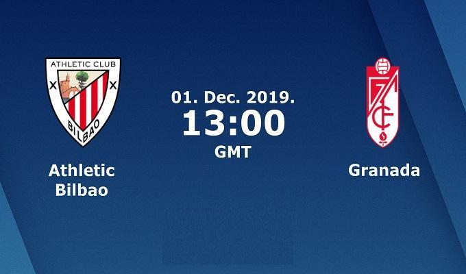 Soi keo nha cai  Athletic Club vs Granada, 1/12/2019 - VDQG Tay Ban Nha