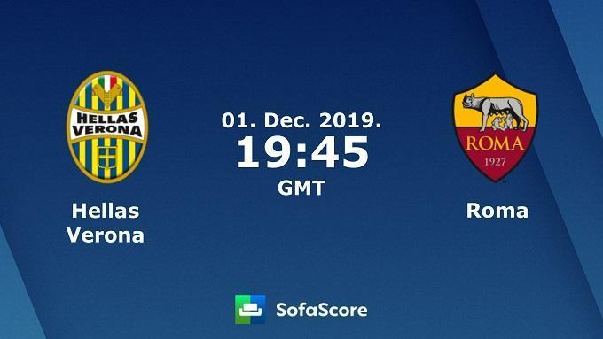 Soi keo nha cai Hellas Verona vs AS Roma, 1/12/2019 – VDQG Y (Serie A)