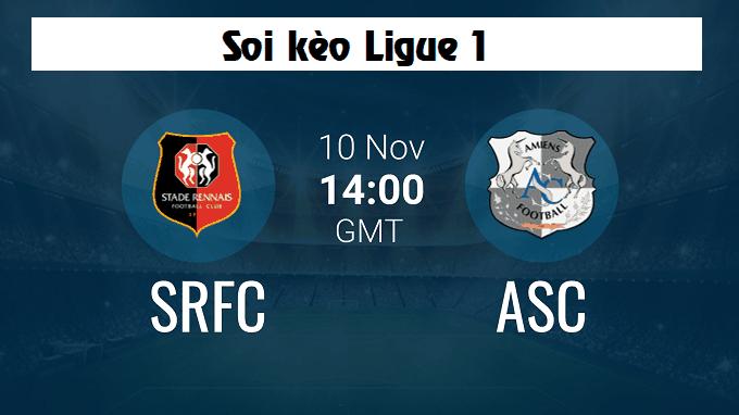 Soi keo nha cai Rennes vs Amiens, 10/11/2019 - VDQG Phap [Ligue 1]