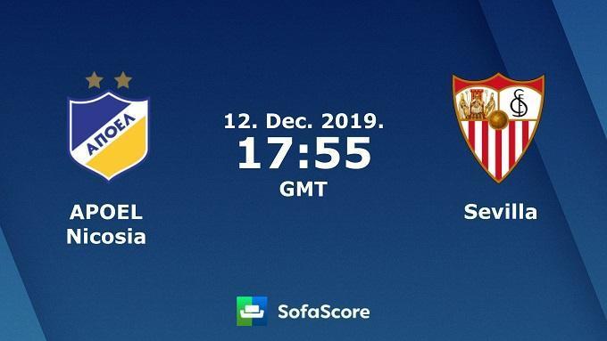 Soi keo nha cai APOEL vs Sevilla, 13/12/2019 – Cup C2 Chau Au