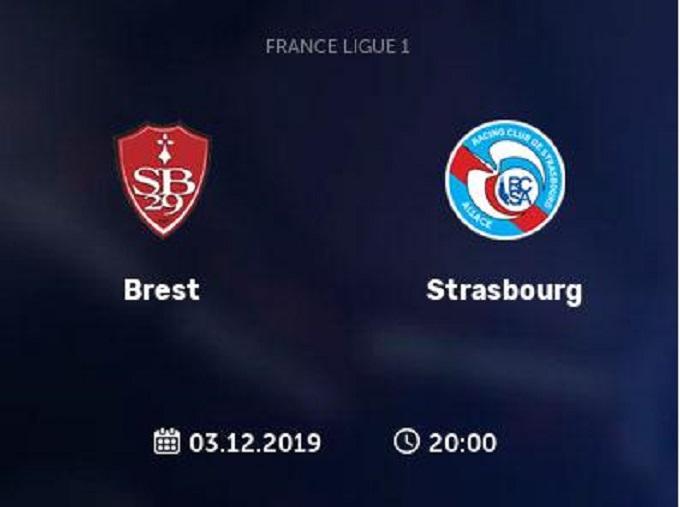 Soi keo nha cai Brest vs Strasbourg, 4/12/2019 - VDQG Phap [Ligue 1]
