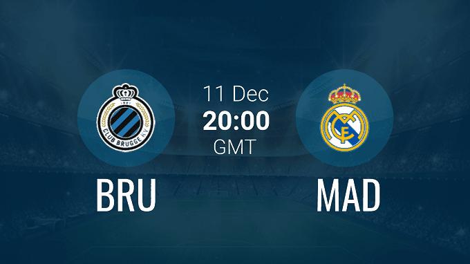 Soi keo nha cai Brugge vs Real Madrid, 12/12/2019 - Cup C1 Chau Au