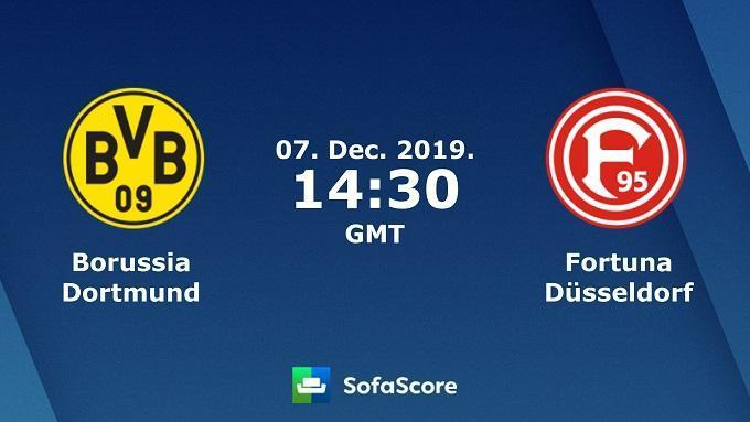 Soi keo nha cai Dortmund vs Fortuna Dusseldorf, 7/12/2019 – VDQG Duc (Bundesliga)