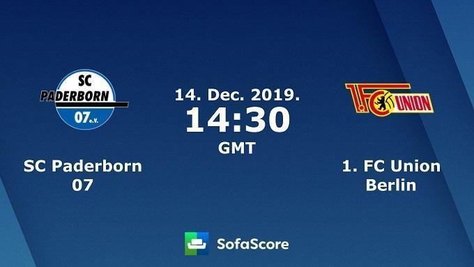 Soi keo nha cai Paderborn vs Union Berlin, 14/12/2019 – VDQG Duc (Bundesliga)