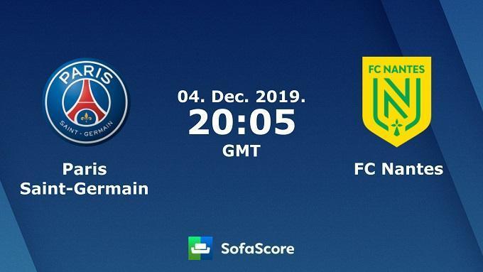 Soi keo nha cai PSG vs Nantes, 5/12/2019 - VDQG Phap [Ligue 1]