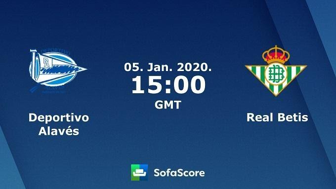 Soi keo nha cai Alaves vs Real Betis, 05/01/2020 – VDQG Tay Ban Nha (La Liga)