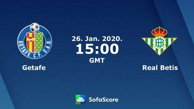 Soi keo nha cai Getafe vs Real Betis, 26/01/2020 – VDQG Tay Ban Nha (La Liga)