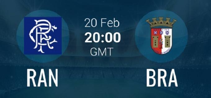Soi keo nha cai Rangers vs Sporting Braga, 21/2/2020 - UEFA Europa League