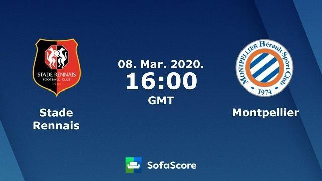Soi keo nha cai Rennes vs Montpellier, 08/03/2020 – VDQG Phap (Ligue 1)